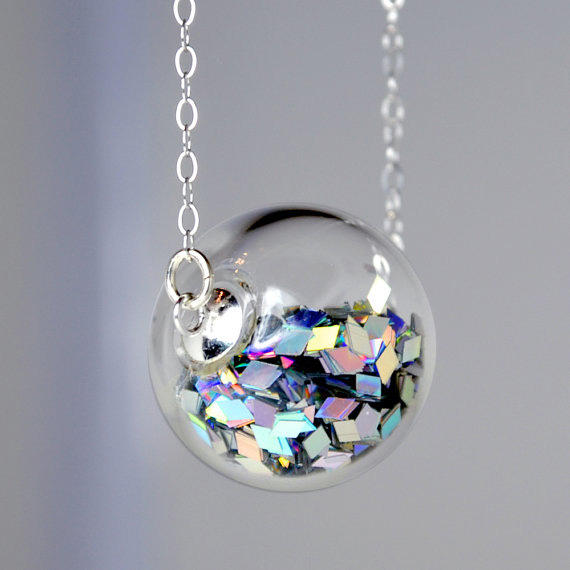 "Prism glitter necklace: Let them make their own ""Double Rainbows"" with this necklace."