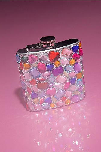 "Gemstone flask: Help them party like it's ""Last Friday Night."""