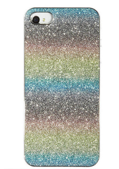 Rainbow Diamond Dust iPhone 5 case: It SPARKLES!