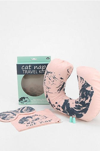 Cat Nap Flight Aid kit: Keep your Katy fan comfortable while jet setting to glamorous places.