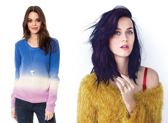 """Volcom """"Stomping Ground"""" sweater: It's pretty! And we know that Katy likes a comfy sweater."""