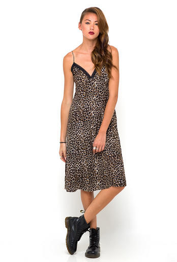 Motel Rocks Leopard Print dress: Get the attention of the lead singer with a dress like this.