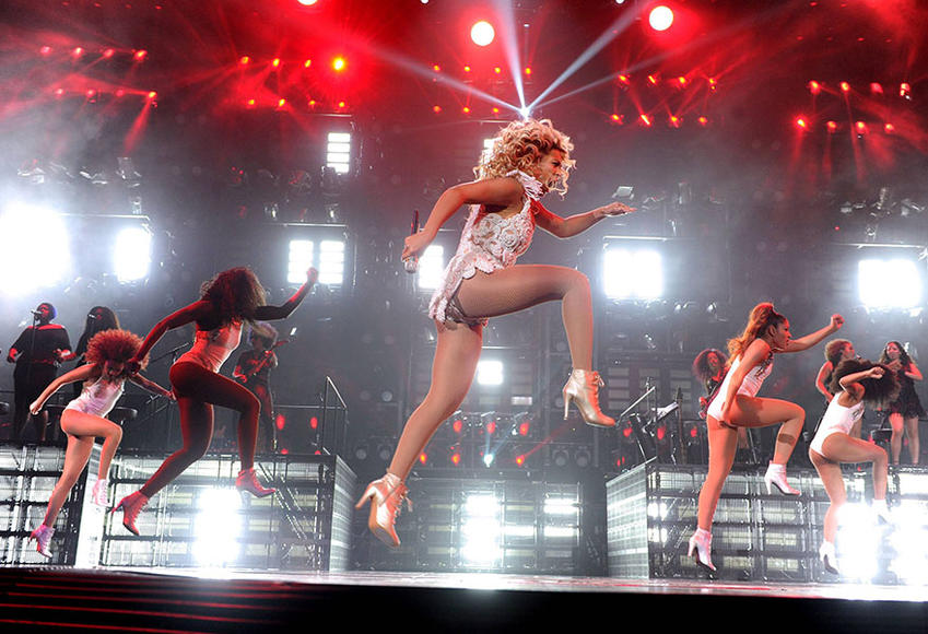 Beyoncé at Staples Center in Los Angeles, CA on December 2, 2013.