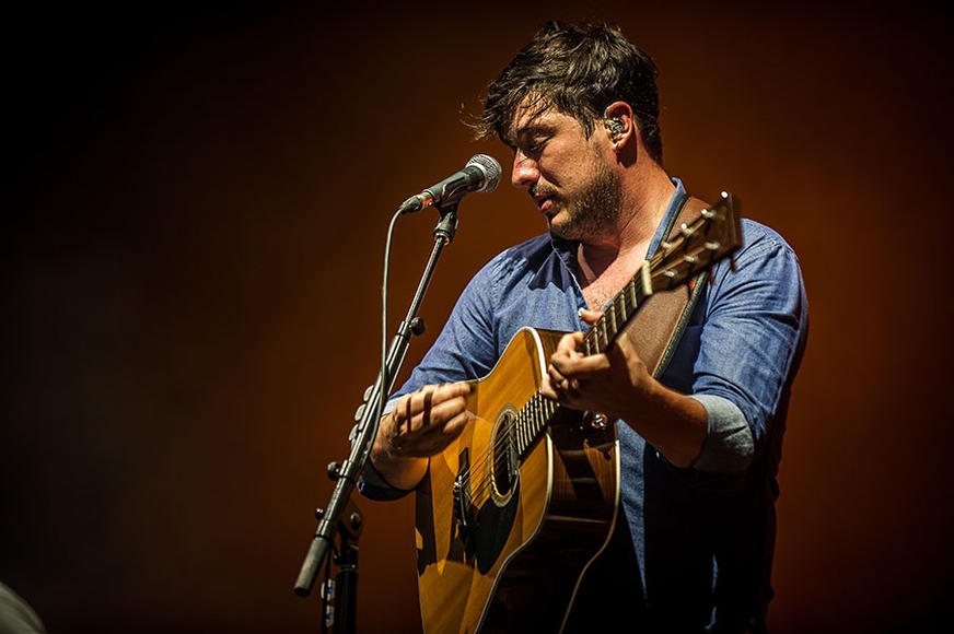Mumford & Sons at the Gexa Energy Pavilion in Dallas, TX on September 19, 2013.