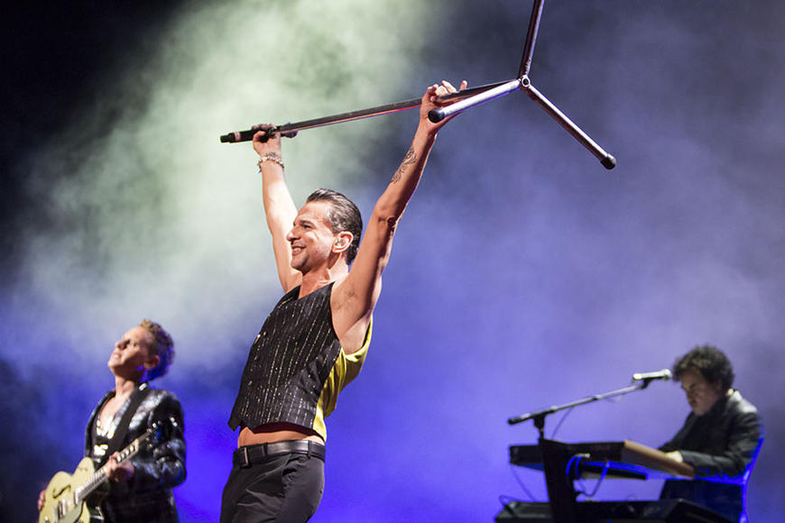 Depeche Mode at First Midwest Bank Amphitheater in Chicago, IL on August 15, 2013.