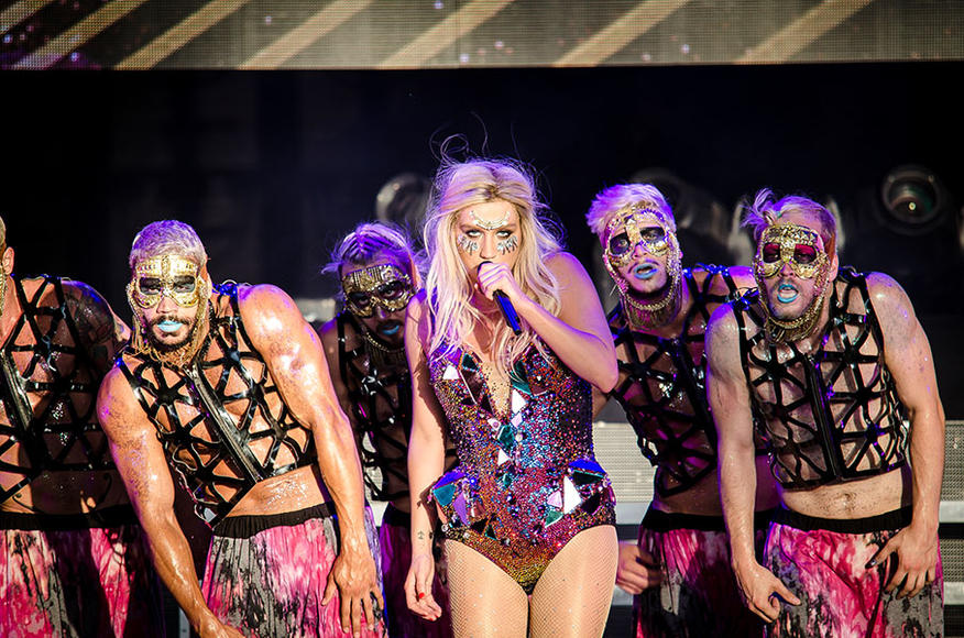 Ke$ha at the Gexa Energy Pavillion in Dallas, TX on June 23, 2013.