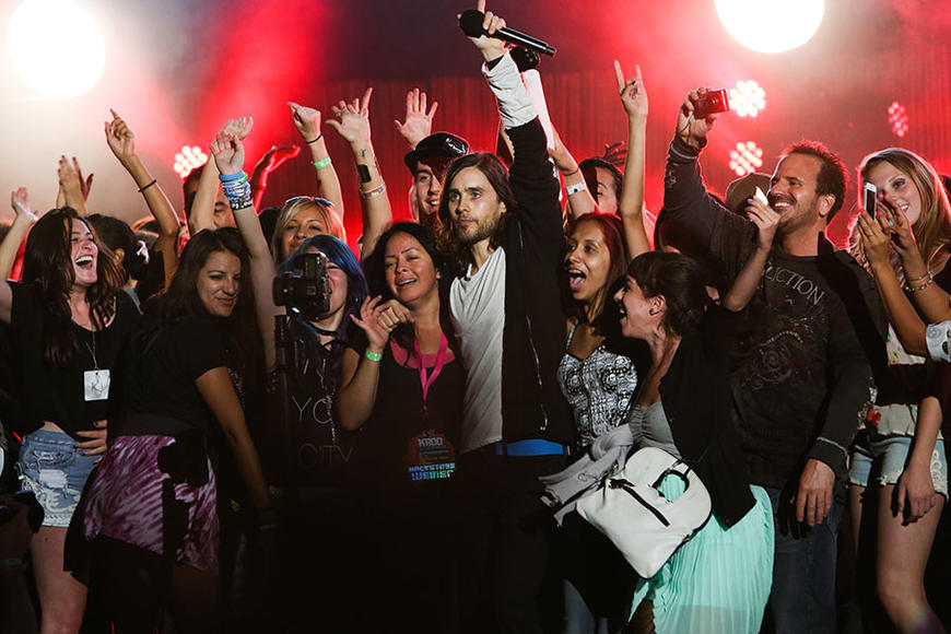 30 Seconds to Mars at Verizon Wireless Amphitheater in Irvine, CA on May 18, 2013.