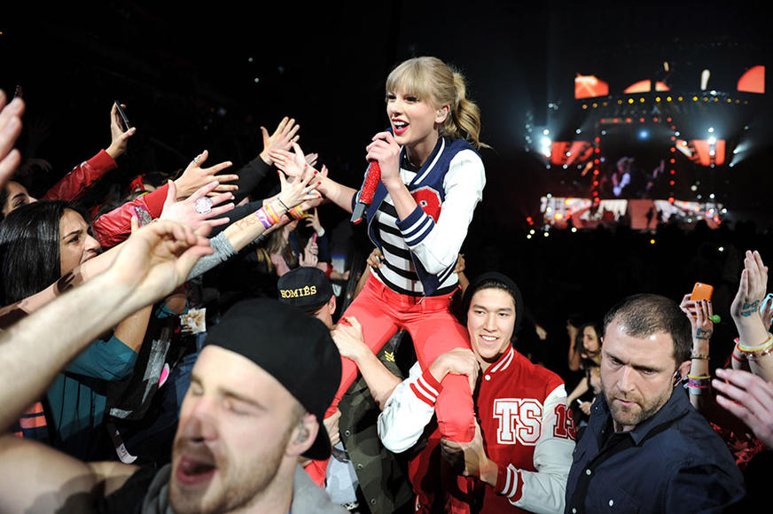 Taylor Swift at the Prudential Center in Newark, NJ on March 28, 2013.