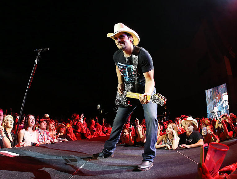 Brad Paisley: He's all about beating the seasons with his tours, so beat your boredom and get to a show!