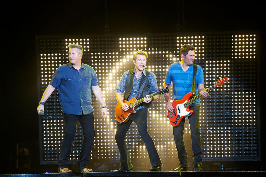 Rascal Flatts: The trio is riled up and ready to deliver a good time.