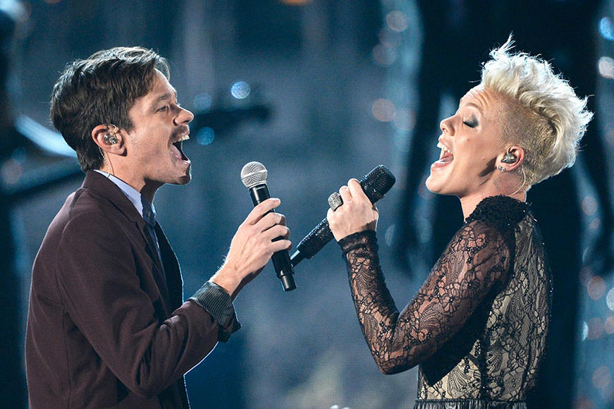 Nate Ruess and P!nk