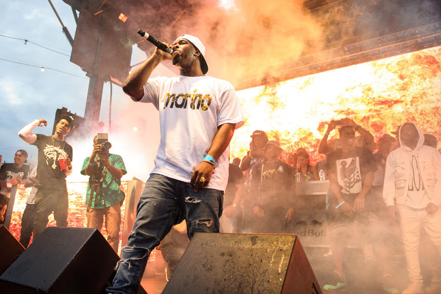 A$AP Ferg: Bounce. Nod your head. Feelin' it? That's what you do during Ferg's set. Chill.