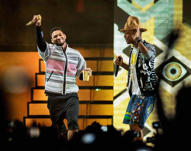 Pharrell and Usher - Weekend Two