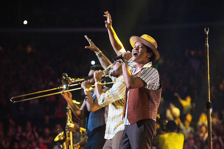 "Artist: Bruno Mars. Song to dedicate to her: ""Treasure"""
