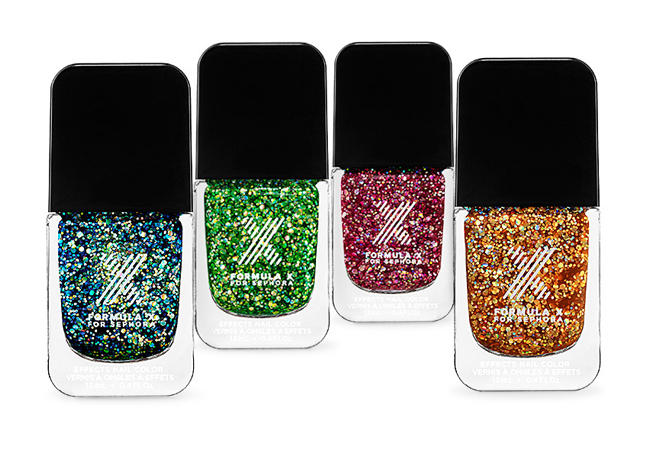 Glitter polish: Sparkle all the way down to your fingertips with this mega-glitter polish.