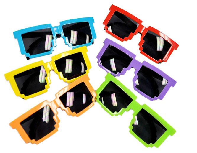 Sunglasses, 8-bit color options: Press START to party.
