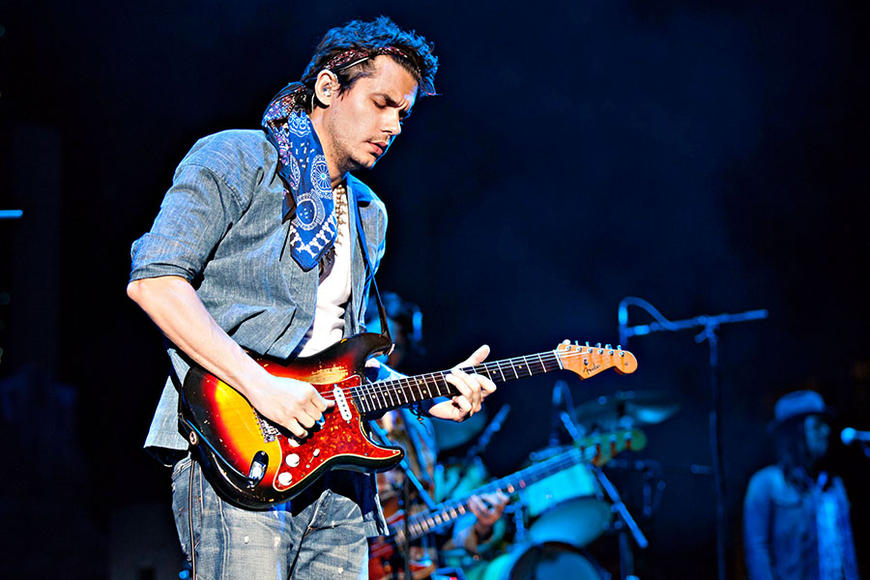 John Mayer: Ah, the many shades of Mr. Mayer. Whether he's sporting folky clothes and a stache, or playing the field (Corn fields, guys! Geez.) once he hits his first chord and croons, it's game over. Take us back to the halls of your high school, John. We're always ready.