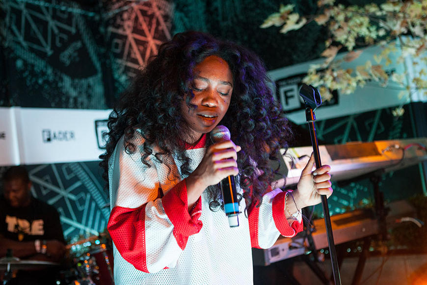 SZA: Stylistically Wes Anderson's dream diva, but with a vocal style modeled after Ella Fitzgerald.  SZA may be a walking indie movie and we mean that as a very serious compliment.