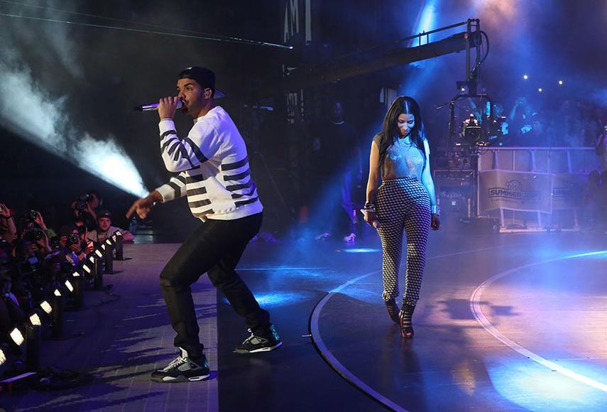 Drake and Nicki Minaj at Hot 97 Summer Jam