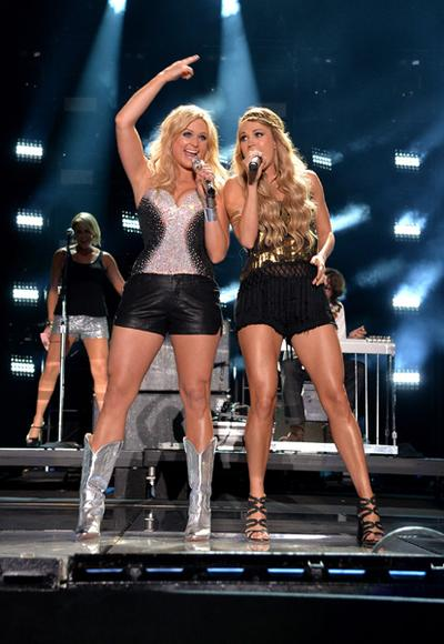 Miranda Lambert and Carrie Underwood