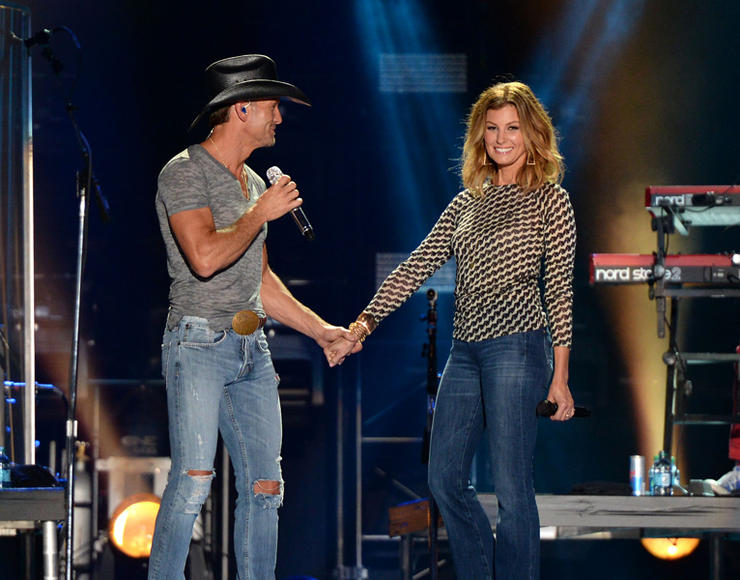 Tim McGraw with Faith Hill at CMA Music Festival