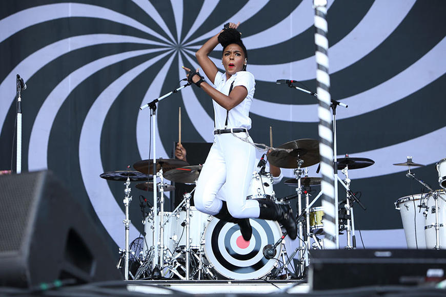 Janelle Monáe at Governors Ball