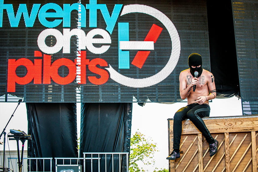 "Twenty One Pilots: Poetry-based pop music might not seem like a favorite to break through to the mainstream. This duo is ready to show you otherwise. They SAY ""Quiet is Violent,"" we promise their set will be neither of those things."
