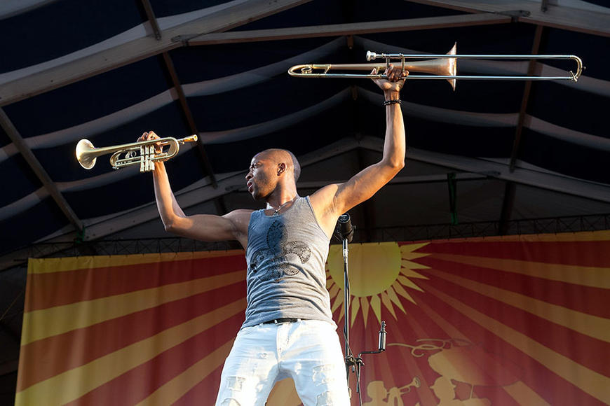 Trombone Shorty & New Orleans Avenue: Take a break from rock, electronica or whatever you're into. See Trombone Shorty. Why? Because he mixes old & new school for a new jazz experience. Also, you're in NOLA, damnit!