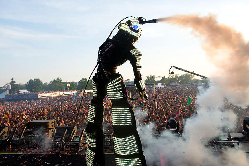 A robot at the festival
