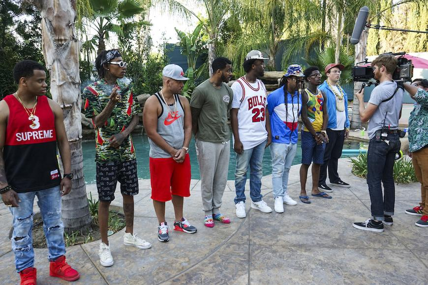 Mack Wilds, Wiz Khalifa, DJ Drama, Sage the Gemini, IamSu, Ty Dolla $ign, Rich Homie Quan + entourage
