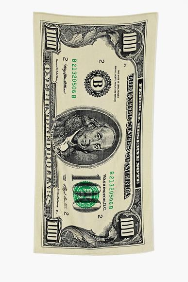 Cash Money beach towel: Guaranteed to make you feel like a 100-dollar bill.