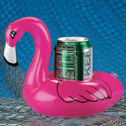 Floating Flamingo koozie: Don't mix your liquids! Keep your drink dry with this supercool koozie