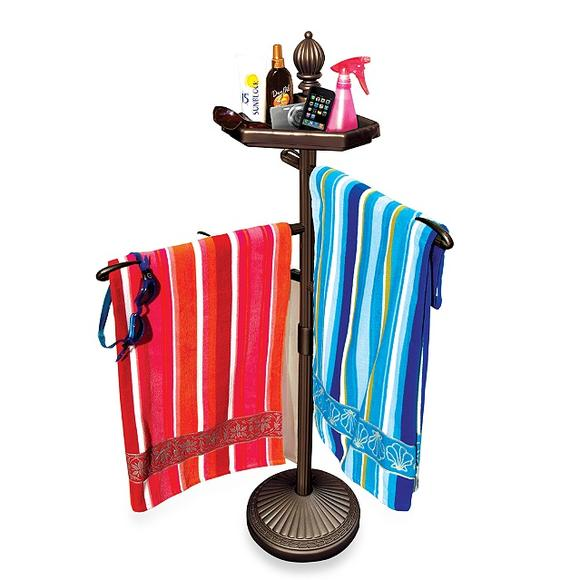 Pool & Patio towel valet: Not everyone can have a poolside butler. Here's the next best thing