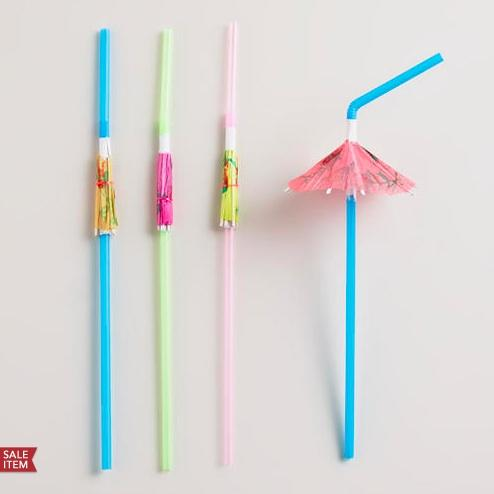 Umbrella straws: Adding tiny umbrellas to your drink invokes immediate vacation vibe.