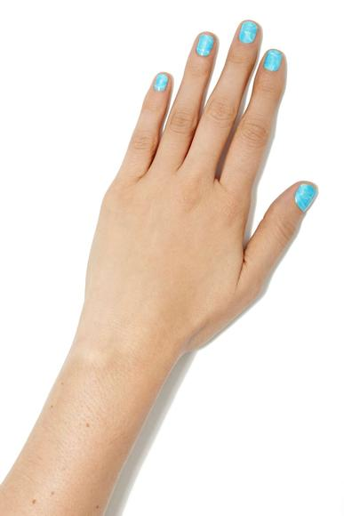 Pool party nail wraps: Can't get to the pool? Stick these on and wiggle your fingers—instant waves.