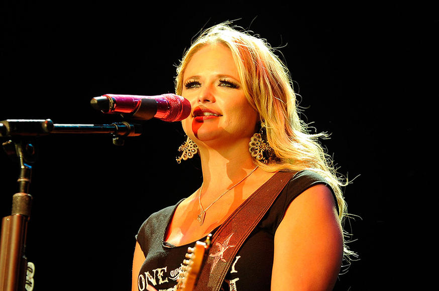 "Miranda Lambert: In ""Kerosene,"" she metaphorically claims she's ""holding on to a loaded gun."" On stage, she literally holds on to a box cutter...for beach balls. Yep. Total badass."
