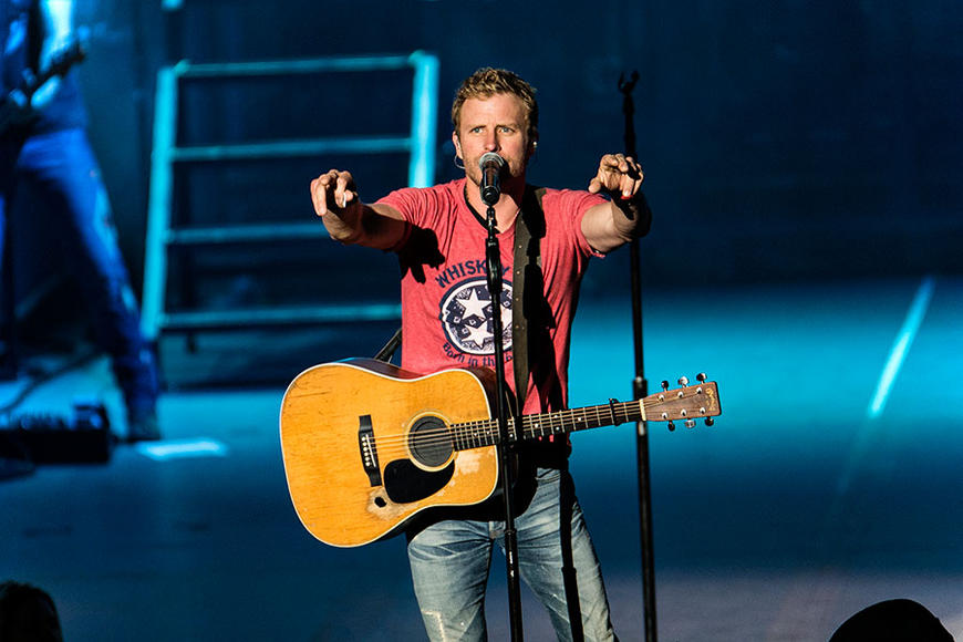 Dierks Bentley: Is there a stage big enough for this star's rip-roaring live show?  Doesn't matter, it's not the size of the stage so much as the wild crowds he can wind up.