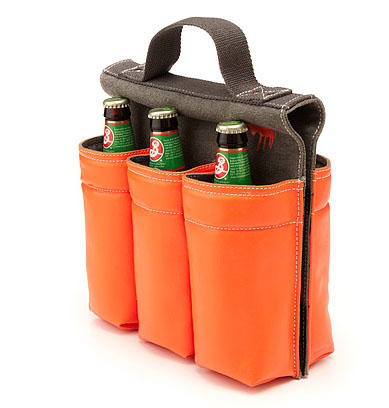 6-pack Bike Bag: Take your brews on an environmentally-friendly cruise with this bike-friendly carrier.