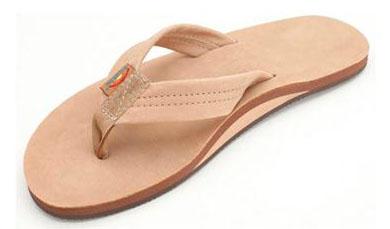 Rainbow Flip Flops: Sweet freedom for your (hopefully) well-groomed feet.