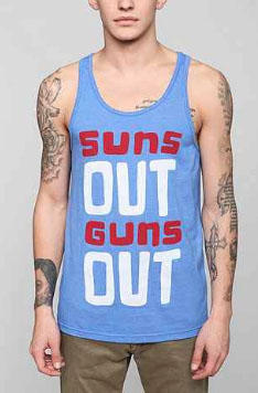 Urban Outfitters Tank: Guns not included. That's on you.