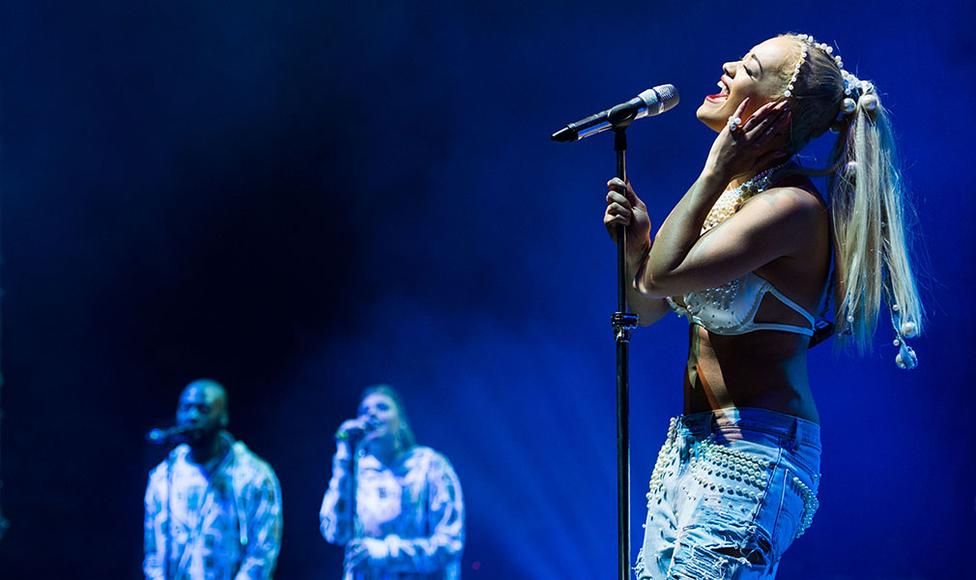 Rita Ora at V Festival