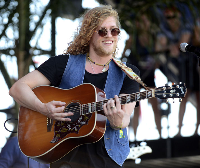 Allen Stone at the 2014 Hangout Music Festival