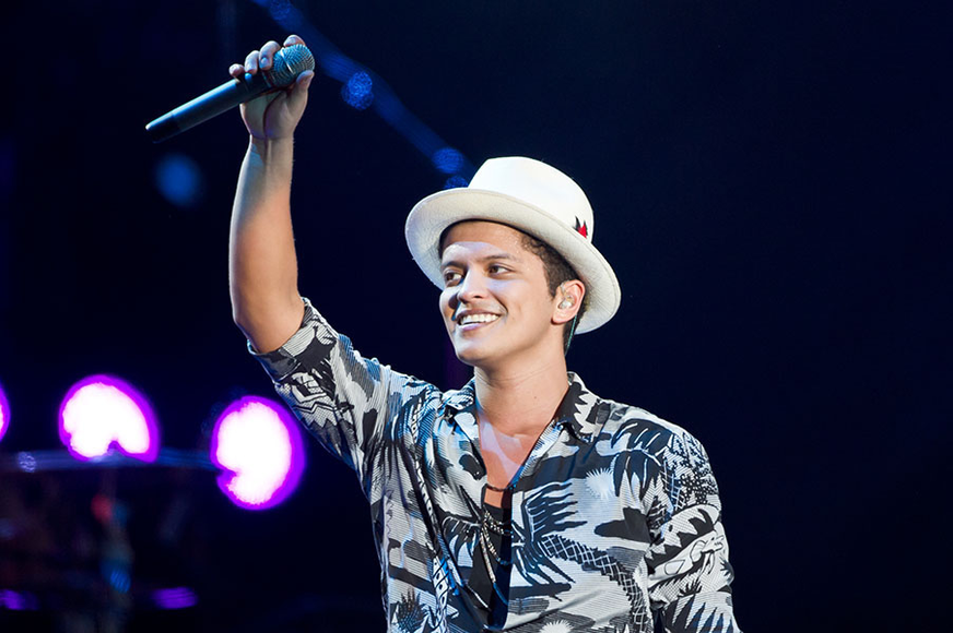 Bruno Mars at the 2014 Wireless Festival