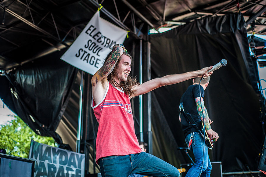 Mayday Parade at the 2014 Warped Tour
