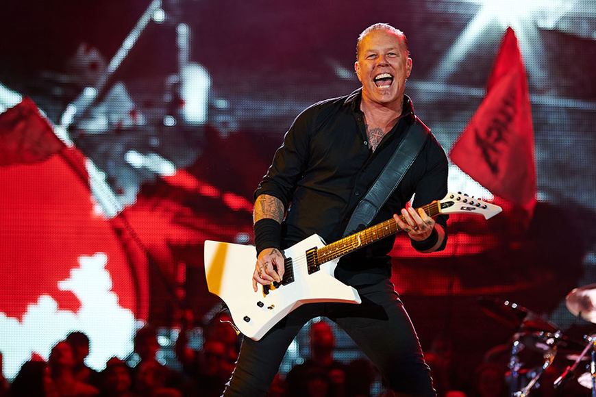Metallica at the 2014 Glastonbury Music Festival
