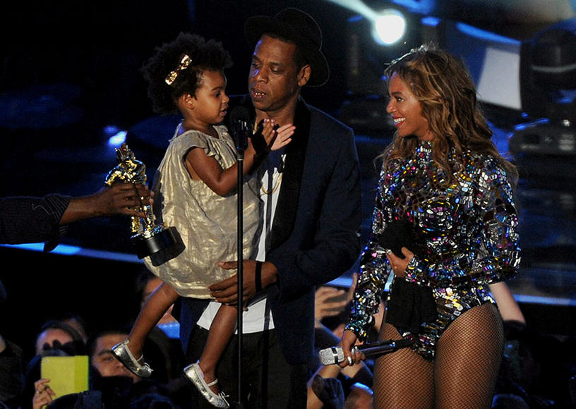 Blue Ivy, JAY Z and Beyoncé