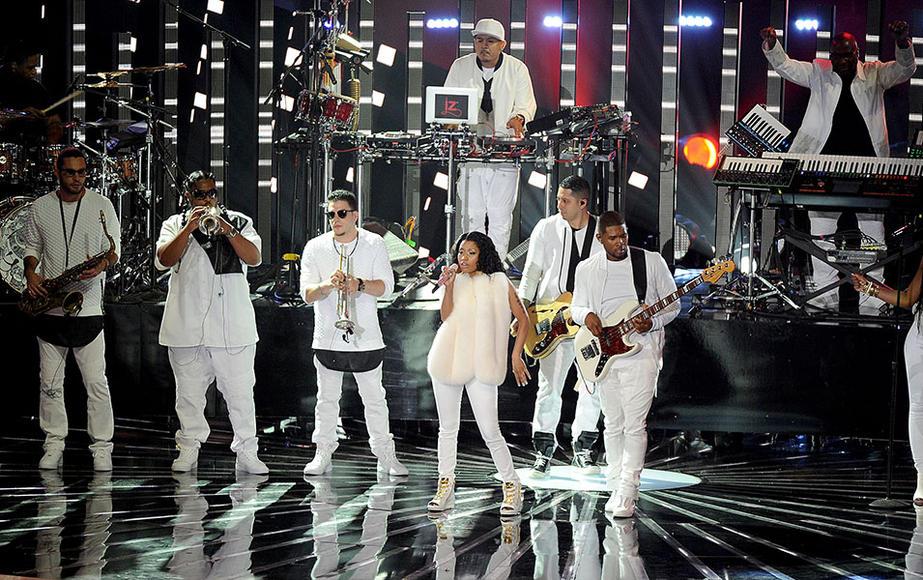 Usher with Nicki Minaj
