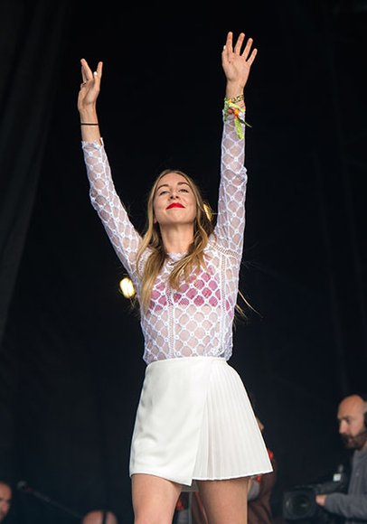HAIM at the 2014 Glastonbury Festival