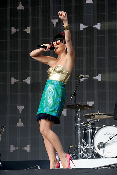 Lily Allen at Radio 1's Big Weekend