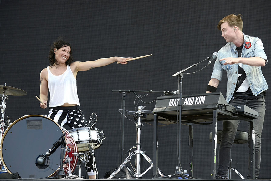 Matt and Kim at the 2014 Bottlerock Music Festival